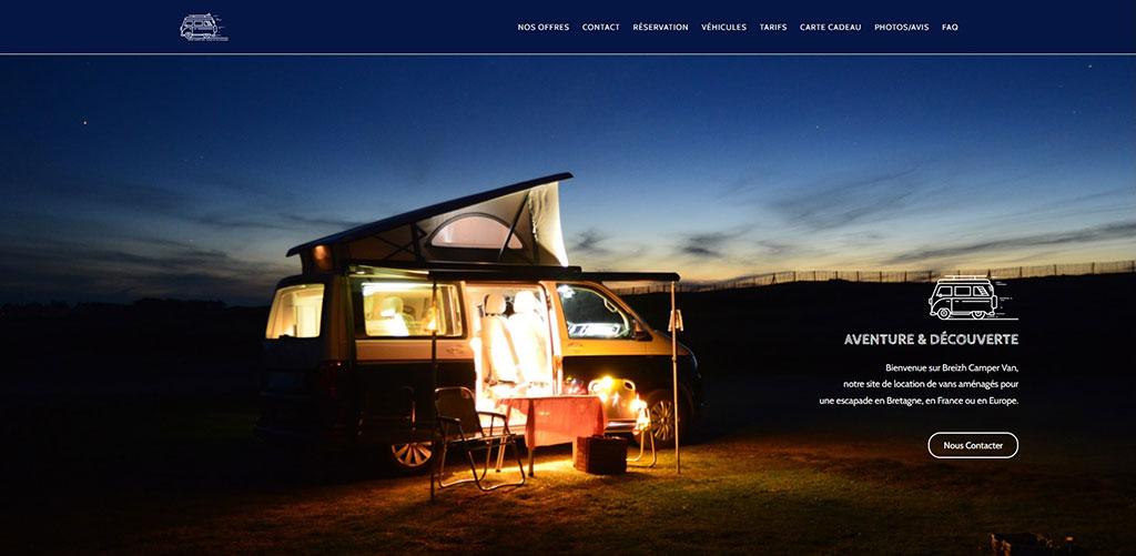 site vitrine breizhcampervan freelance rouen