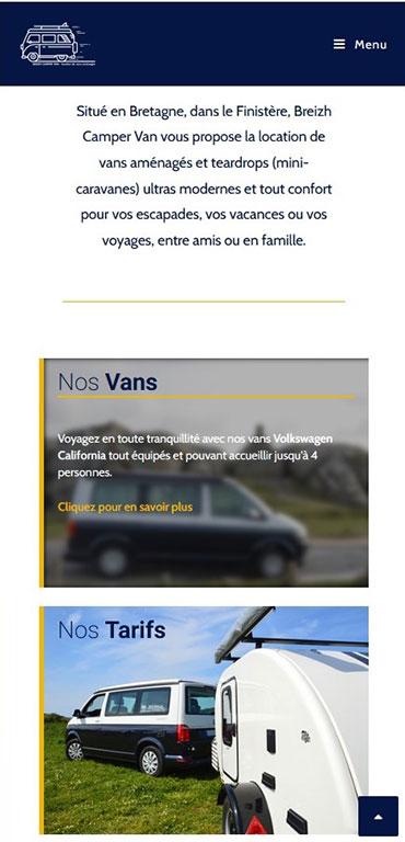 site mobile breizhcampervan par adcommunication